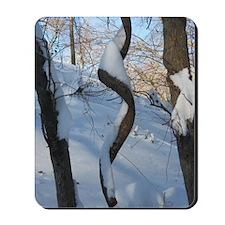 Swirly Snow Tree  Mousepad