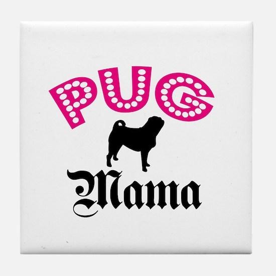 Cool Shelter dog mom Tile Coaster