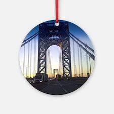 George Washington Bridge Round Ornament