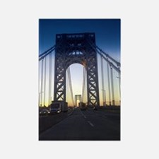 George Washington Bridge Rectangle Magnet