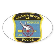 Virginia Beach PD Motors Oval Decal