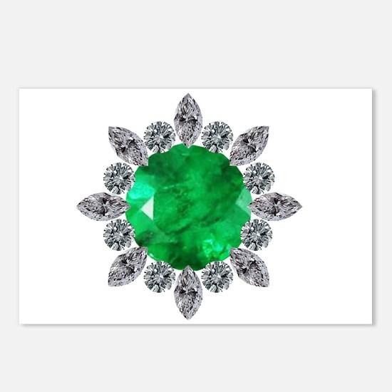 brooch-3-emerald-8-15-2013 Postcards (Package of 8
