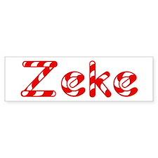 Zeke - Candy Cane Bumper Car Sticker