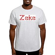 Zeke - Candy Cane Ash Grey T-Shirt