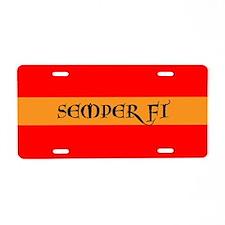 Semper Fi Aluminum License Plate