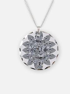 Ascher Diamond Brooch Necklace