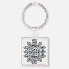 Ascher Diamond Brooch Keychains