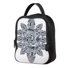 Ascher Diamond Brooch Neoprene Lunch Bag
