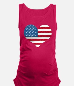 flagheart.png Maternity Tank Top
