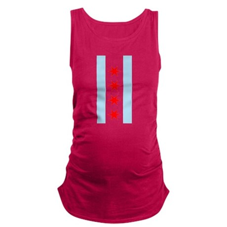 Chicago Flag Maternity Tank Top