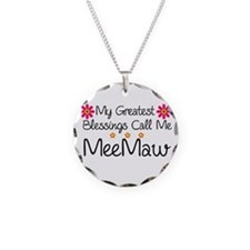 Blessings MeeMaw Necklace Circle Charm