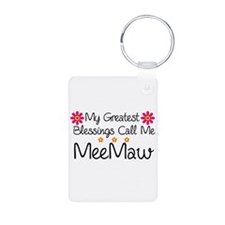 Blessings MeeMaw Aluminum Photo Keychain