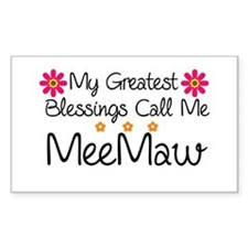 Blessings MeeMaw Decal