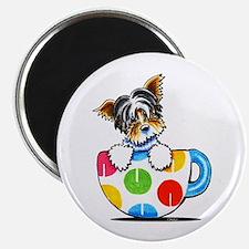 """Biewer Yorkie Cup 2.25"""" Magnet (10 pack)"""