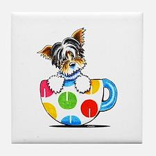 Biewer Yorkie Cup Tile Coaster
