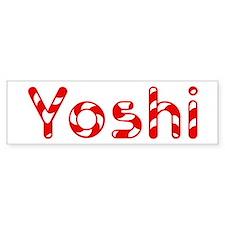 Yoshi - Candy Cane Bumper Bumper Sticker