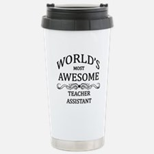 World's Most Awesome Teacher Assistant Stainless S