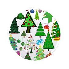 """Oh Christmas Tree 3.5"""" Button"""