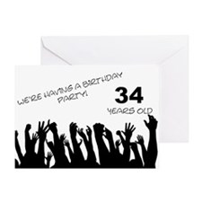 34th birthday party invitation Greeting Card