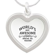 World's Most Awesome Special Ed. Teacher Silver He