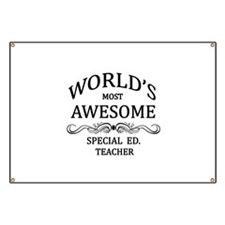 World's Most Awesome Special Ed. Teacher Banner