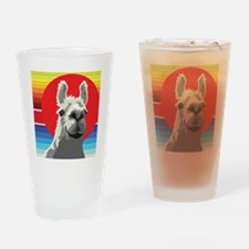 Silly Llama by Anne Alden Drinking Glass