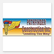 "Pathfinder Construction Square Car Magnet 3"" x 3"""