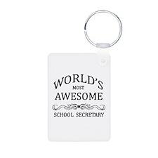 World's Most Awesome School Secretary Keychains