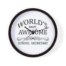 World's Most Awesome School Secretary Wall Clock