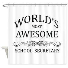 World's Most Awesome School Secretary Shower Curta