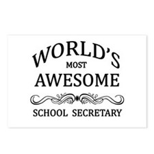 World's Most Awesome School Secretary Postcards (P