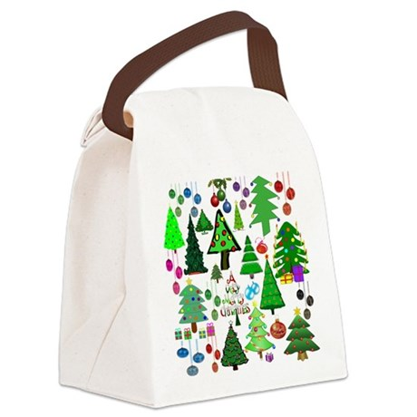 Oh Christmas Tree Canvas Lunch Bag