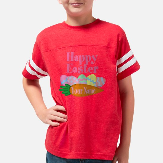 Happy Easter Carrot and Eggs Youth Football Shirt