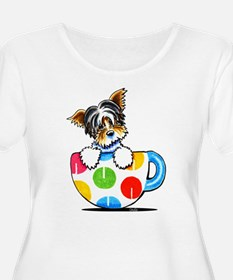 Biewer Yorkie Cup Plus Size T-Shirt