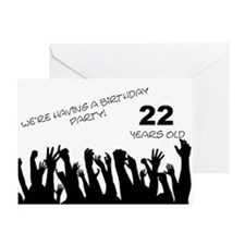 22nd birthday party invitation Greeting Card