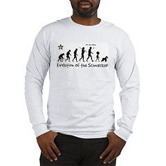 Schnauzer Evolution! Long Sleeve T-Shirt