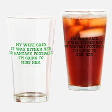 Fantasy Football Casualty Drinking Glass