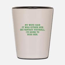 Fantasy Football Casualty Shot Glass