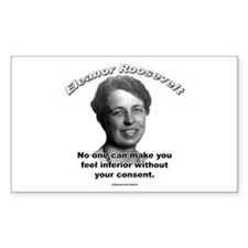Eleanor Roosevelt 01 Rectangle Decal