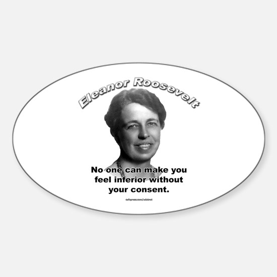Eleanor Roosevelt 01 Oval Decal