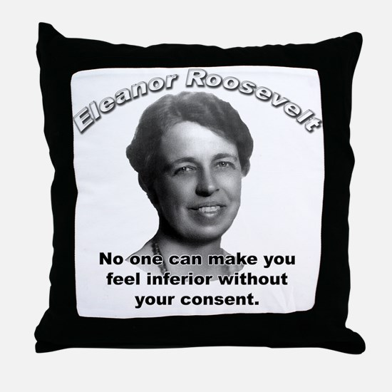 Eleanor Roosevelt 01 Throw Pillow