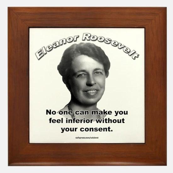 Eleanor Roosevelt 01 Framed Tile