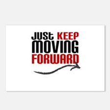 Just Keep Moving Forward Postcards (Package of 8)