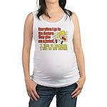 hugmyself.png Maternity Tank Top