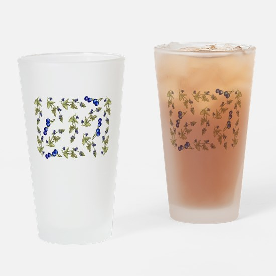 vines of blueberries Drinking Glass