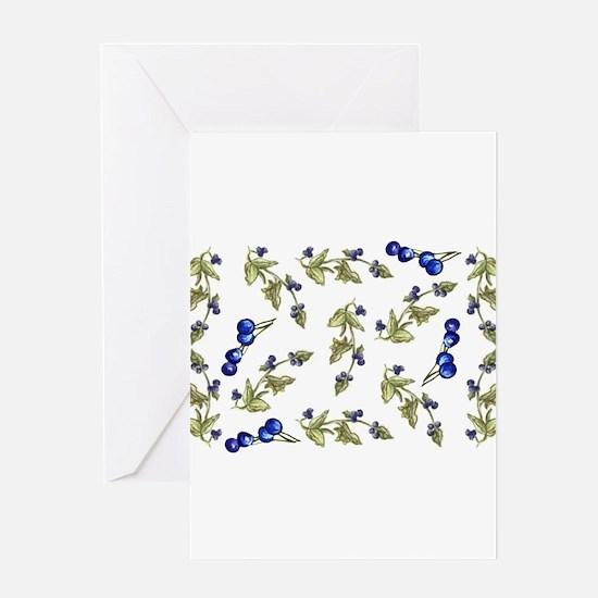 vines of blueberries Greeting Card