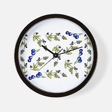 vines of blueberries Wall Clock