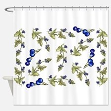 vines of blueberries Shower Curtain