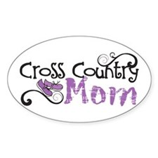 Cross Country Mom Oval Stickers (10 Pack)