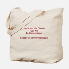 Cute Anti circumcision Tote Bag